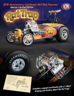 ACME RAT TRAP DRAGSTER HOT ROD REUNION GMP HEMI NHRA RACING FUEL