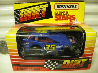 1993 RARE SERIES 2 DIRT MODIFIED RACE CAR #35 TOBY TOBIAS MINT BOXED