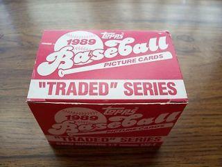 1989 Topps Update Complete 132 Card Set Griffey Sanders Vizquel