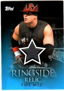 THE MIZ 2012 Topps WWE Mat RELIC Card + 2009 Shirt RELIC Card