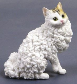 SELKIRK REX CAT STATUE FIGURINE