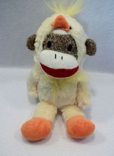 Chicken Dance Sock Monkey 9 Plush Animal Toy Gemmy