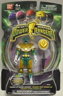 MIGHTY MORPHIN POWER RANGERS 2010   GREEN RANGER FIGURE with COIN