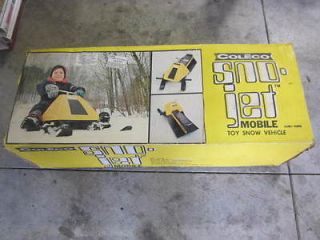 Vintage coleco Sno Jet snowmobile sled toy ride on new in box