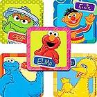Square Stickers ★ Oscar Elmo Ernie Cookie Monster Big Bird