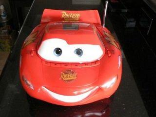 Disneys Cars Lightning McQueen radio/CD player music boom box