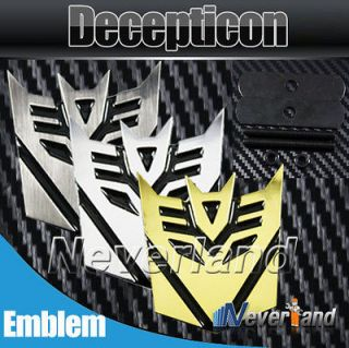 3D 3 Color Transformers Decepticon Car Front Grille Emblem Metal