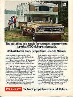 1969 GMC Sleeper Camper Pickup Truck Ad