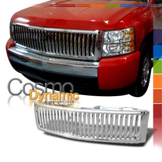 CHEVY SILVERADO PICKUP TRUCK CHROME VERTICAL STYLE FRONT GRILLE GRILL