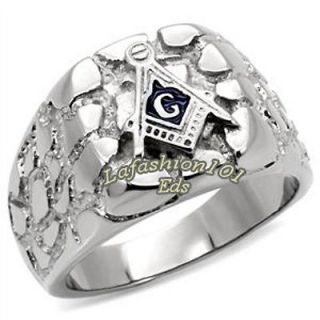 316L Stainless Steel Designer Masonic Mason Mens Ring SIZE 9 13