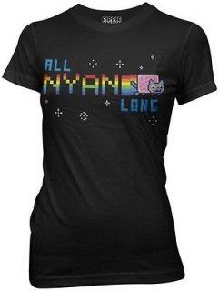 Nyan Cat All Nyan Long Junior Womens Shirt Poptart Cat You Tube Video