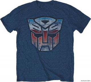 Licensed Transformers G1 Vintage Autobot Distressed Symbol Adult Shirt