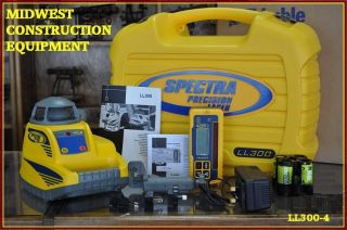 NEW Trimble Spectra Precision LL300 Laser Package w/ HL450   NiCad