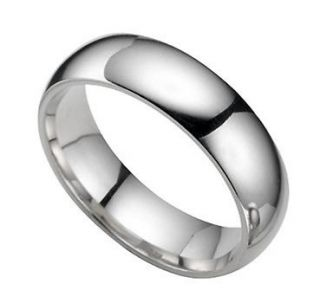 Tungsten Carbide Ring 6MM Elegant Men Classic Dome Ring Wedding Band