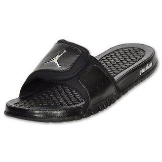 Nike Jordan Hydro 2 Premier Black/Silver size 10 Sandal Slides Comfort