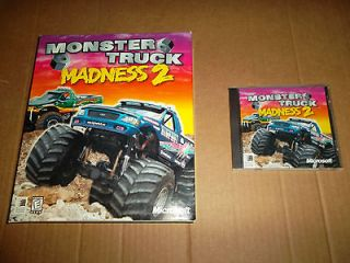 Monster Truck Madness 2 COMPLETE Vintage Large Big Box PC Game