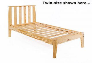 Twin XL Mission Platform Bed Frame Unfinished Wood