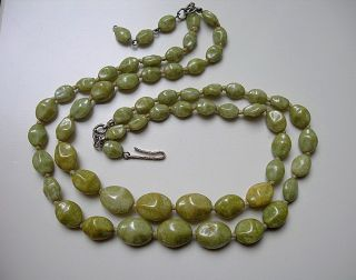 Light Green Opaque Glass Beads 2 Row Knotted Necklace,Connemara
