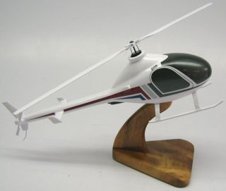 Executive Exec 90 Rotorway Helicopter Wood Model XLarge Planeshowcase