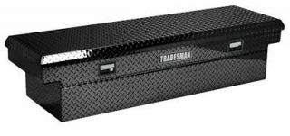 Tradesman Aluminium 63 Cross Bed Truck Tool Box Black Mid Size