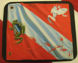 Scuba Dive flag mouse pad scuba diving equipment snorkeling amphibious