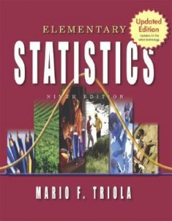 Statistics Update by Mario F. Triola 2004, CD ROM Hardcover