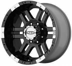 16 Inch 16x8 MO951 BLACK WHEELS Chevy Dodge 2500 Truck 8 Lug Rims