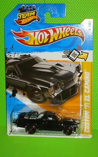NEW MODELS #49 CUSTOM 71 EL CAMINO   BLACK WITH TWIN JET ENGINE