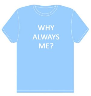WHY ALWAYS ME? T SHIRT   Mario Balotelli   Manchester   sky blue