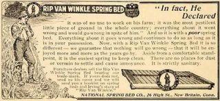 1904 Vintage Ad Rip Van Winkle Spring Bed Antique 25 High St New