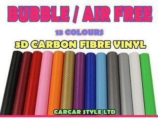 Bubble/AIR Free】ALL COLOUR /ALL SIZE 【Carbon Fibre Vinyl】Wrap