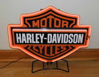 harley davidson neon sign in Collectibles