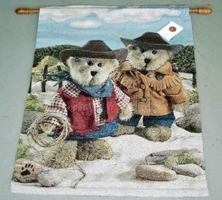 Boyds Bears On The Range Cowboys Tapestry Wall Hanging