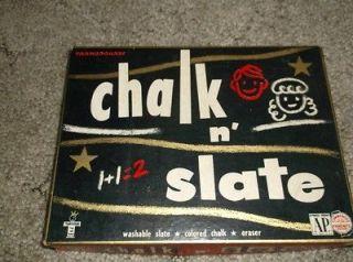 vintage slate chalkboard in Antiques