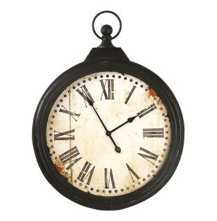 LARGE 20 POCKET WATCH WALL CLOCK VINTAGE DESIGN RUSTIC TUSCAN OLD
