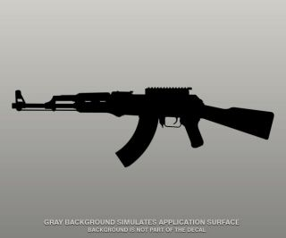 Decal BLACK 5 FIREARM Ammo Military Wall Car Vinyl Window Sticker C 5