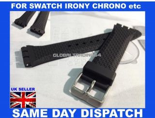 HEAVY DUTY RESIN SWATCH STYLE WATCH STRAP SWATCH IRONY CHRONO etc