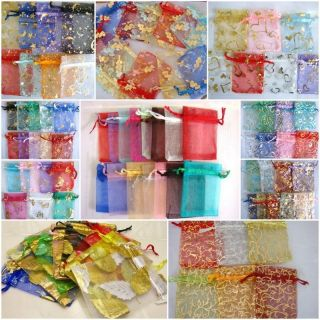 Assorted Mixed Organza Wedding Favor Gift Bags Pouches