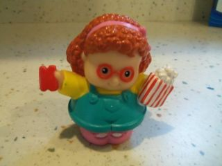 Larger Fisher Price Little People Maggie with Popcorn