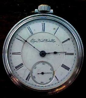 ELGIN NATIONAL WATCH CO / B W RAYMOND   POCKET WATCH Roman Numerals