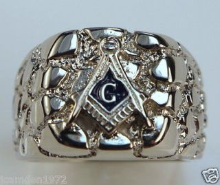 white gold masonic ring in Collectibles