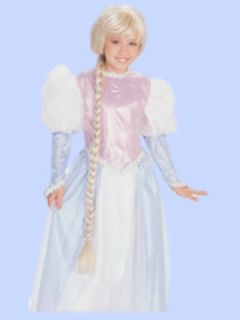 Halloween Child Rapunzel Wig Girls Blond Dress up Long Braided Wig New