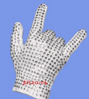 Paillette gloves stage show MJ Michael Jackson street dance crystal