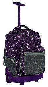 Girls Sunrise 18 Rolling Wheeled Backpack Garden Purple RBS 18