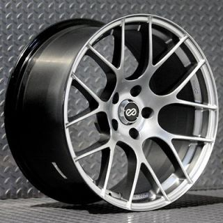ENKEI RAIJIN RIMS HYPER SILVER 18x8 5x114.3 +40 (4 NEW WHEELS)