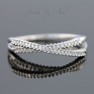 Mens 10k White Gold Diamond Pinky Ring 3/4ct Engagement Wedding Band