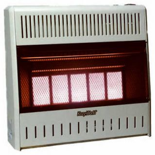 Plaque Infrared 30,000 BTU Natural Gas Wall Heater w/ Thermostat