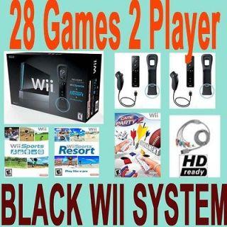 Nintendo Wii Console System W Sports Games Bundle Black