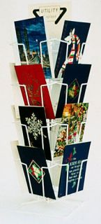 New White  16 Overlapping Vertical Pocket 5 x 7 Greeting Card