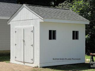 Custom Design Shed Plans, 10x12 Medium Salbox Barn Building Plans